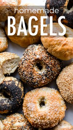 This Easy Homemade Bagel Recipe Proves That You Can Make Deliciously Chewy Bagels In Your Own Kitchen With Only A Few Basic Ingredients And Baking Tools Recipe On Gourmet Recipes, Cooking Recipes, Fun Baking Recipes, Easy Homemade Recipes, Homemade Tools, Pizza Recipes, Sweet Pizza, Homemade Bagels, Homemade Sandwich Bread