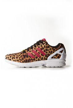 44d8ded312844 new adidas zx flux torsion leopard print animal womens trainers