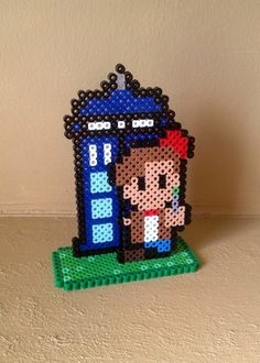 Dr. Who Inspired 8 Bit 3D Perler Set via eb.perler. Click on the image to see more!