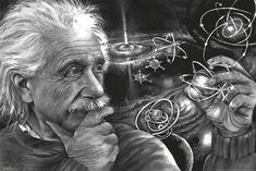 Einstein Quasar by James Harvey Danger Genius Scientist Art Print Poster Citations D'albert Einstein, Vietnam War Photos, Albert Einstein Quotes, Albert Einstein Pictures, Poster Prints, Art Prints, Chakra, Find Art, Art Quotes