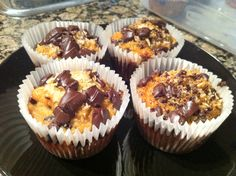 Coconut choc chip muffins paleo