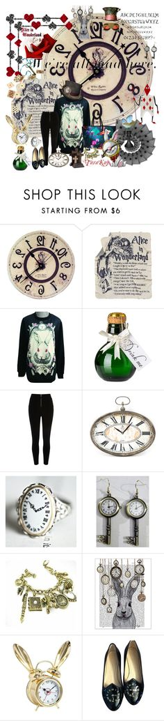 """I'm late! I'm late!"" by tarakaypoly ❤ liked on Polyvore featuring Marc by Marc Jacobs, River Island, Zentique, Retrò, FabFunky, PBteen, Charlotte Olympia, Bey-Berk, Tiffany & Co. and women's clothing"