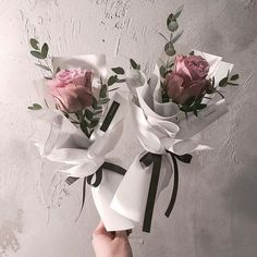 Single Flower Bouquet, Flower Packaging, Flora Flowers, Paper Bouquet, Vase, Floral, Beautiful, Home Decor, Bouquets
