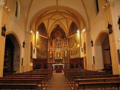 Iglesia de San Nicolás de Bari (actual iglesia de los Padres Franciscanos), Interior desde los pies. Avilés .