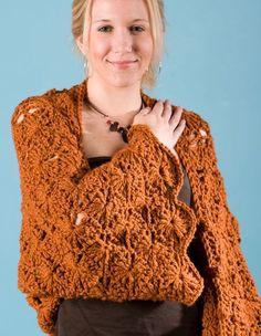 Free Downloadable Crochet Shrug Patterns | SunRays Crochet Shrug & Shawl - Knitting Patterns and Crochet Patterns ...