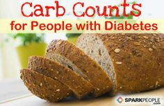 Carbohydrate-Counting Chart for People with Diabetes