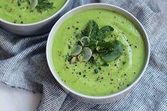 Cucumber avocado melon soup