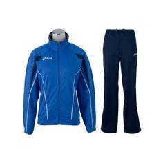Asics Suit Luna Lady melegítő királykék, tengerészkék női Asics, Suit, Athletic, Lady, Jackets, Fashion, Moda, Athlete, Fashion Styles