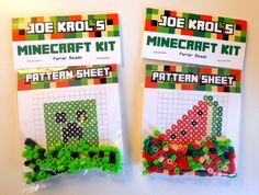 Hey, I found this really awesome Etsy listing at https://www.etsy.com/listing/186434561/minecraft-perler-favor-kits