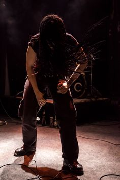 """This is from a concert by the new #Berlin #deathmetal band """"Meat"""" last Friday night #annalandsberger.  The band is #femalefronted and #rocks"""