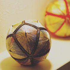 てまり 【金龍の舞】 #wa #和  #japaneseculture #decoration ball#てまり#手毬#手まり#日本#芸術#art#手作り#handmade #伝統#文化#手作り