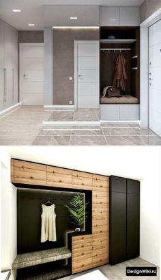 Дизайн прихожей по одной стене Home Design Decor, Home Interior Design, House Design, Home Decor, Hallway Designs, Closet Designs, Hall And Living Room, Living Room Decor, Hallway Furniture