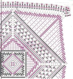 – Katrin Rakowski – # YandexFo … - New Ideas Crochet Doily Diagram, Crochet Ripple, Crochet Square Patterns, Crochet Blocks, Crochet Chart, Crochet Squares, Thread Crochet, Crochet Motif, Crochet Stitches