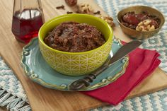 Moroccan chariseth - We love the delicious tangy flavor and smooth texture of this charoset.  It is so rich with the flavor of the dates and cloves. This may be our favorite charoset. Make extra for wonderful leftovers after the Seder!