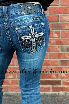 Miss Me Cross Studded Denim Jeans! $109.99! #SouthernFriedChics