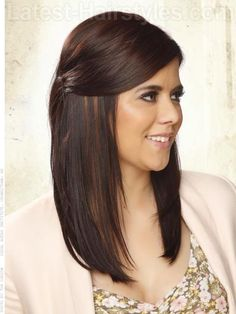Pinned Back Princess Side Pinned Style for Long Hair - Side View