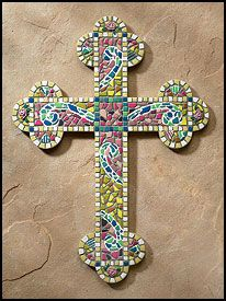 glass mosaic cross (no tutorial)