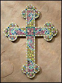 glass mosaic cross (no tutorial)