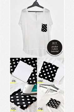 DIY: Pocket T-shirt tutorial (plus free pattern) via Maiko Nagao blog