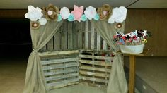 Country Wedding Pallet Photo Booth