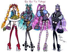 Hayden Williams Fashion Illustrations: Go Go to Tokyo collection by Hayden Williams