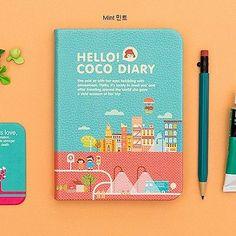 So cute! Ardium Hello Coco Premium 2014 Diary Ver 4 Korean Planner Dated Journey Mint