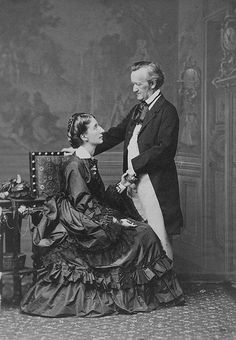 Richard and Cosima Wagner. She was the daughter of composer and pianist Franz Liszt, and Wagner's second wife. Romantic Composers, Classical Music Composers, Beautiful Love Letters, Richard Wagner, Romanticism, Aretha Franklin, Daughter, Canvas Prints, Portrait