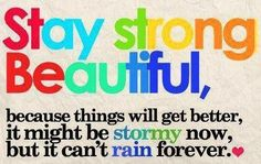 Stay strong quote via Carol's Country Sunshine on Facebook