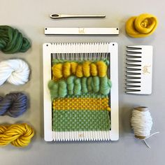 Small Rectangular Weaving Loom Kit by Wool Couture What Is A Loom, Loom Weaving, Hand Weaving, Circular Weaving, Small Cushions, Spinning Wool, Yarn Needle, Craft Kits, Arts And Crafts