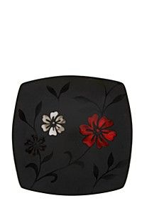 FLORAL SQUARE STONEWARE DINNER PLATE