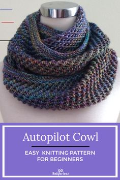 Free Cowl Knitting Patterns for Beginners | Knitfarious - #knittingideas - Need some new knitting ideas? Check out our collection of free cowl knitting patterns for Beginners. These knits about winter will make you want to cast on.... Knitting Terms, Easy Knitting Patterns, Knitting Stitches, Free Knitting, Easy Knitting Ideas, Knitting For Beginners Projects, Free Scarf Knitting Patterns, Infinity Scarf Knitting Pattern, Simple Knitting