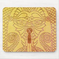 Customizable Abstract Dragon Mousepad gold clam Good Luck Chinese, Dragon's Teeth, Chinese Symbols, Dragon Head, Custom Mouse Pads, Circle Of Life, Day Up, Corner Designs, Clams