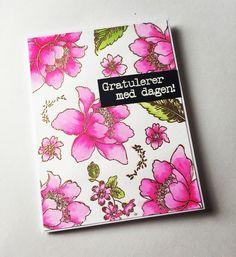 Made with Altenew Garden Treasure stamp set. Watercolours ZIG