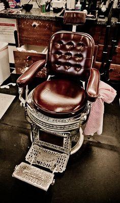 Barber Vintage Chair Clic Salon Old