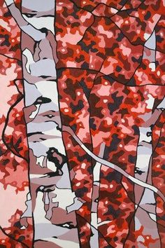 "Beautiful oil painting by Kitchener Waterloo artist Jonathan Munz. ""Red Birch"" - available in oil painting, canvas print and greeting cards."