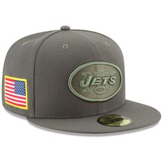 80c7068b101 Men s New York Jets New Era Olive 2017 Salute To Service 59FIFTY Fitted Hat