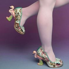 Flamingo shoes by Irregular Choice. They have a ton of beautiful, unique shoes ♡