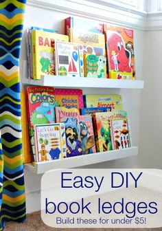 diy book shelf ledges – easy, inexpensive and awesome!