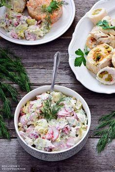 Sałatka do obiadu/grilla jest pozycją niezbędną i na co dzień, i od święta czy gdy znajomi wpadną na imprezę. Ta sałatka jest tak uniwersalna, że pasuje do wszelkich dań gotowanych, smażonych, grillowanych i pieczonych! Sprawdź koniecznie - pokochasz ją! :) Low Carb Recipes, Cooking Recipes, Healthy Recipes, B Food, Pasta Salad, Italian Recipes, Salad Recipes, Potato Salad, Grilling