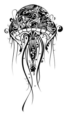 Jellyfish wall decal... Doodle Art, Doodles, Tattoos, Drawings, Color, Colouring, Dream Catcher, Sketches, Colour
