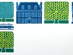 Trees and Buildings poster