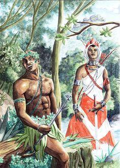 Ossanhe e Obá - Orixás são ancestrais divinizados africanos que correspondem a pontos de força da Natureza e os seus arquétipos estão relacionados às manifestações dessas forças.