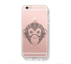 Big Monkey iPhone 6 Case iPhone 6s Plus Case Galaxy S6 Edge Clear Hard Case C047