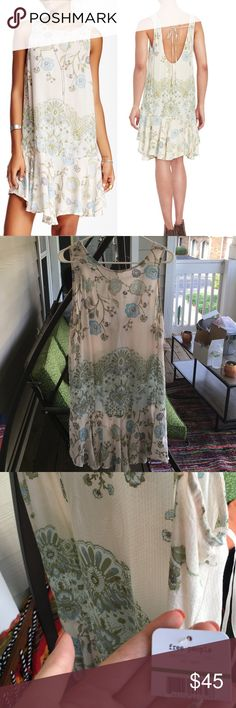 Free People Printed Flouncy Hem Dress NWT Perfect condition- NWT! Beautiful slip, so nice feeling and perfect for the summer Free People Dresses