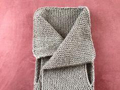 easy tutorial: knitting a stylish vest. eine raffinierte aber einfache Weste stricken.