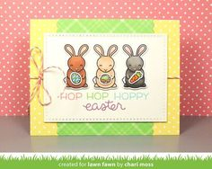 the Lawn Fawn blog: Lawn Fawn Intro: Hoppy Easter, Happy Hatchling + Easter Border