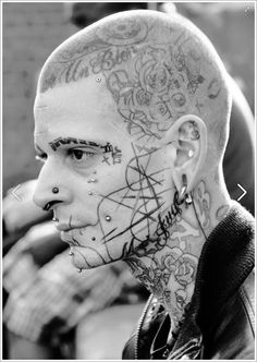 40 Jaw Dropping Face Tattoos That Will Shock You Hello! Here we have best wallpaper about face tattoo designs for men. We wish these photos . Face Tattoos For Men, Cool Tattoos For Guys, Head Tattoos, Body Tattoos, Maori Tattoos, Tatoos, Dragon Tattoos, Girl Tattoos, Maori Tattoo Designs