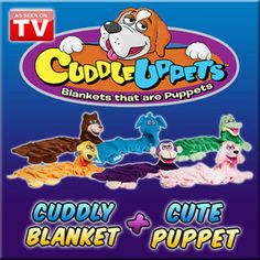 CuddleUppets, the blanket that is a puppet.