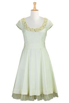 Winter White Beaded Dresses, Cotton Poplin Dresses Womens fashion clothing | Women's stylish dress | Evening dresses, cocktail dresses, day-...