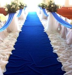 Love the look of this (sapphire) blue aisle runner
